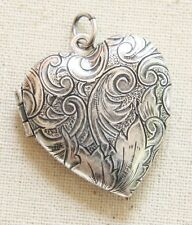 NWT Catherine Popesco Heart Vintage Silver French Locket Made Paris