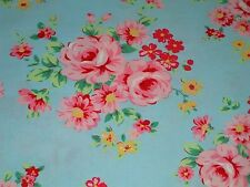 Flower Sugar 9927L Lecien Shabby Cottage Floral Rose Chic Aqua Blue 9927 L OOP