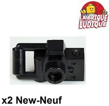 Lego - 2x Minifig utensil appareil photo camera type 2 noir/black 30089b NEUF