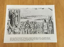 Vintage Wisconsin Historical Society Print Early Fur Trade Nicolas Perrot