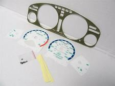 94-95 Honda Accord automatic Kevlar Bezel & Glow Through white Face Gauges