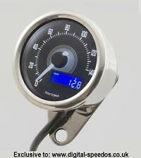 Digital Speedometer Speedo 140 MPH/KPH inc speed sensor, cafe racer, bobber chop