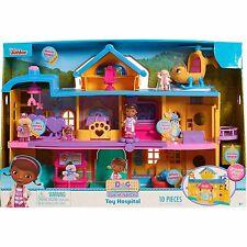 Disney Doc Mcstuffins Toy Hospital Playset Doll House 3 levels 10 pcs NEW!