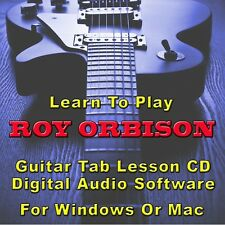 ROY ORBISON Guitar Tab Lesson CD Software - 8 Songs