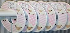 6 Baby Closet Dividers in Pink Lambs Clothes Organizers New Baby Gift