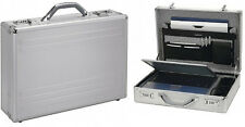 """ALUMAXX Laptop Attachékoffer silber Notebook Koffer Netbook 17"""""""