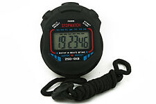 Digital LCD Handheld Chronograph Timer Sports Stopwatch Stop Watch Alarm Clock