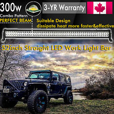52 inch 300W LED WORK LIGHT BAR COMBO SPOT FLOOD DRIVING OFFROAD BAR 4WD FOG 50