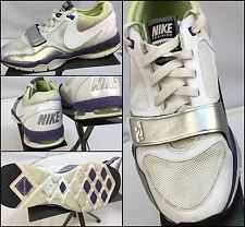 Nike Air Max TR1 Trainer One Sz 8 Women White Leather Running Shoes EUC YGI M6-2
