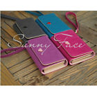 Sales Ladies Wallet Case Card Coin Wallet Smart Purse For Iphone 4 4S & 5 5S UK