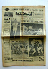 Journal l'Equipe n°6201 - 1966 - Jazy - Nantes - Vétroff - Aimar - Narbonne Rugb