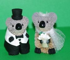 Koala Wedding Bride & Groom Ornaments, Cake Topper, Gift, Table Decoration