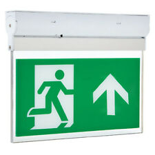 LED Hanging Emergency Fire Exit Sign Light Surface Non or Maintained 3W HiSPEC