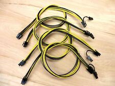 4x 6 pin to 6+2 pin Male PCIe Power Cable for GPU Video Card Ethereum Mining