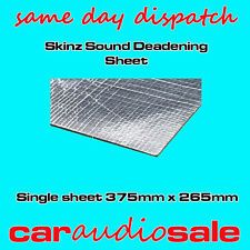 SKINZ CAR SOUND DEADENING DAMPENING PROOFING MATERIAL SINGLE SHEET 375MM X 265MM