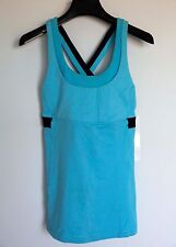 NWT Lululemon Run: Stuff Your Bra Tank II Size 8 Color BOON/INKW/BOON