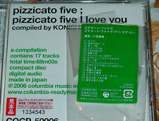 PIZZICATO FIVE 5 I LOVE YOU CD 2006 OBI MADE IN JAPAN GREATEST HITS TRISTE STARS