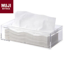 MUJI Acrylic Tissue Box New Moma Japan 26 x 13 x 7cm