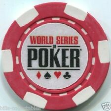 3 pc 3 colors 10 gm clay WSOP poker chip samples set #198