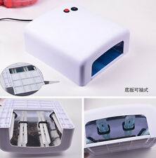 Pro 36W Nail Art UV Lamp Light Dryer 4 X 9W Bulbs Salon Gel Curing 110V&220V