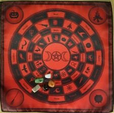 Kit cloth on the Altar Circle Witch + 5 magic stones Wicca Divination Council