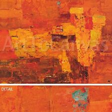 "47""x35"" INDIA SEEK THEM OUT by ANNE VILSBOLL WARM RED ORANGE YELLOWS CANVAS"