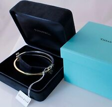Gift Ready! Rare New Tiffany & Co Gehry Yellow Gold Silver Axis Bangle Bracelet