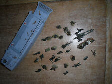 UNIMAX DIE-CAST LANDING CRAFT, USA PURCHASE, APPROX 30 FIGURES/ITEMS INCLUDED