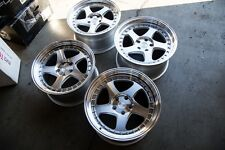 18X9.5/10.5 Aodhan AH01 5X114.3 +30 Silver Used Rims Fits 350Z G35 Coupe Mustang