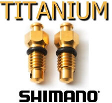 SHIMANO: 2 Bleed screws in Titanium - 43% lighter - 5 times less heat transfer!