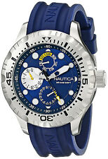 Nautica N15105G BFD 100 Blue Dial Blue Rubber Strap Multifunction Men's Watch