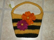 NWT Midwest CBK Wool Bag Purse Handbag Bumble Bee & Floral Design