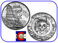 Silver Privateer Original P1 2 oz UHR Coin (w/ airtite, $3+ value)