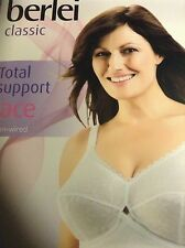 Berlei Classic Non Slip Full Cup Bra B510 White Non Wired Support 38C