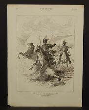 The Graphic Single Page B1#41 Oct 1875 Balaklava Charge -By George H. Thomas