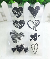 Hot Heart#1 Silicone Rubber Clear Stamp Seal Scrapbooking Diary Christmas Card