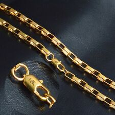 "STAMPED REAL18K GOLD FILLED MENS/UNISEX  CHAIN NECKLACE 20"" 6 MM GF60"