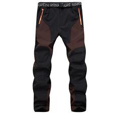 Outdoor Hiking Mens Warm Fleece Trousers Windproof Waterproof Trekking Pants