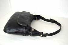 MAXX BLACK GENUINE ASH LEATHER HOBO EVENING BAG SHOULDER HANDBAG