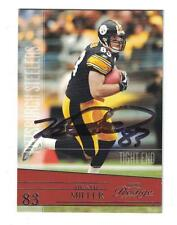 Heath Miller AUTOGRAPH PITTSBURGH STEELERS FOOTBALL CARD SIGNED