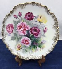 Floral Flowers Roses Signed S Kuzuya Collectors Decorative Plate Ucagco Vintage