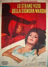 BLADE OF THE RIPPER Italian 2F movie poster 39x55 EDWIGE FENECH GIALLO NISTRI