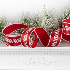 Peppermint Striped craft Christmas ribbon for Decorating pt r3504205 NEW pt
