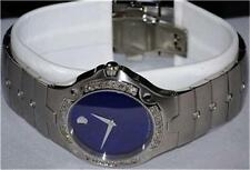 New Men's Movado SE s e blue 0604702 1.00ct.aprx.custom set real Diamond watch