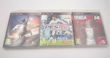PACK 3 JUEGOS: F1 2010 PES 2012 y NBA 2K14 SONY PLAYSTATION PS3 PAL ESPAÑA