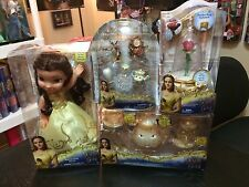 Beauty And The Beast Belle Doll Enchanted Rose With Tea Pot Set