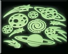 Glow In The Dark Stars & Planets Wall Ceiling Decor Stick On Space