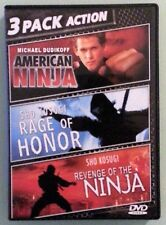 AMERICAN NINJA / RAGE OF HONOR / REVENGE OF THE NINJA    DVD