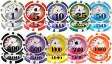 NEW 1000 Piece Yin Yang 13.5 Gram Clay Poker Chips Bulk Lot Select Denominations