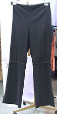 Joseph Ribkoff BNWT UK 12 Magnificent Black Trousers Tie Laces Mid Leg Very Chic